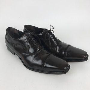 Mezlan Shoes - $319 Mezlan Brown Oxford Cap Toe Shoes Sz 11M